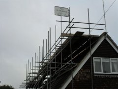 Roof Line Scaffold Installation